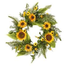 sunflower wreath sunflower wreath wayfair