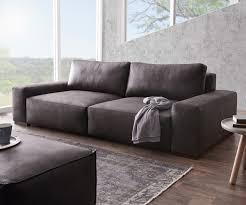 sofa anthrazit big sofa lanzo 270x125 cm anthrazit vintage optik möbel sofas big