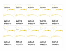 Template For Business Cards 10 Per Sheet by Cards Office Com