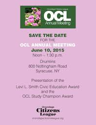 save the date emails save the date ocl annual meeting luncheon onondaga citizens
