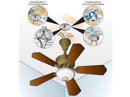 Outdoor Patio Fans Wall Mount by How To Replace A Light Fixture With A Ceiling Fan How Tos Diy