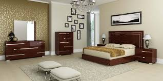 Bedroom Furniture Listers Volare Queen Size Modern Walnut Bedroom Set 5pc Made In Italy Ebay