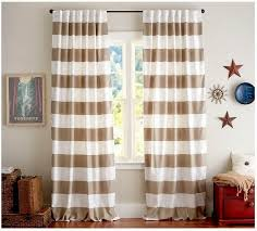 Stripe Curtain Panels Ideas For Horizontal Striped Curtains And Blinds