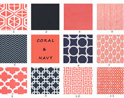 Coral And Navy Curtains Coral Bedroom Curtains Viewzzee Info Viewzzee Info