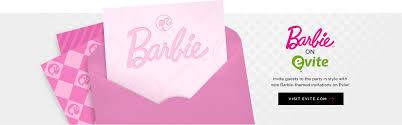 Barbie Birthday Invitation Cards Barbie Birthday Party Ideas Barbie Themed Party Barbie