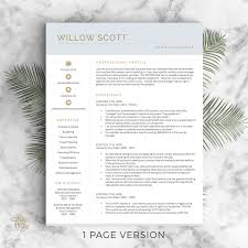 Two Page Resume Header Professional Resume Templates Cv Templates By Landeddesignstudio