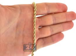4mm diamond 10k yellow gold diamond cut hollow rope chain 4 mm 26 28 30 inch