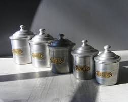 canisters for kitchen vintage kitchen canisters etsy