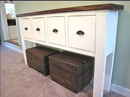Diy Console Table Plans Attractive Pottery Barn Console Table Craigslist 95 For Your Diy