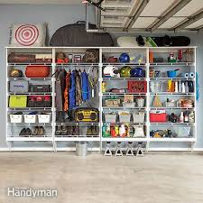 easy garage storage solutions family handyman