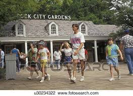 stock photo of chattanooga rock city gardens tennessee georgia