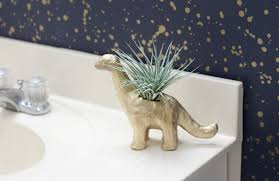 animal planter how to make a d i y dinosaur planter figurine air plant holder