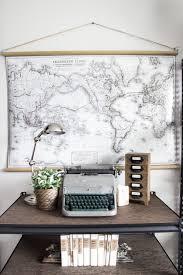 DIY Vintage Pull Down Map Bless er House
