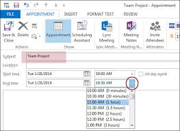 scheduling a meeting in the outlook calendar on windows cumc
