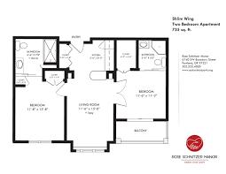 Floor Plan Of Two Bedroom Flat Apartment Styles Cedar Sinai Park