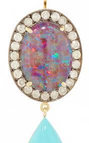 turquoise opal earrings one of a kind australian opal earring with ice moda operandi