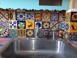 mexican tile kitchen backsplash mexican tiles reclaimedhome