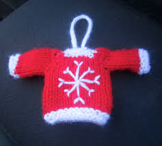 tiny top sweater ornaments knitting