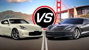 nissan 350z zero to 60 2016 nissan 370z vs chevy corvette stingray spec comparison