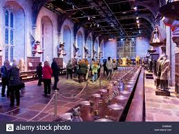 Hogwarts Dining Hall by Visitors In The Great Hall At The Harry Potter World Warner Bros