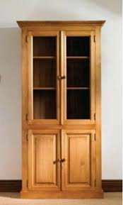 Oak Glazed Display Cabinet Bookcase French Provincial Classic White Cupboard Display