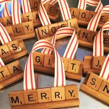 homeroad repurposed vintage scrabble ornaments for
