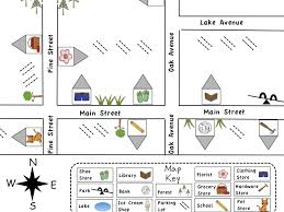 printable map key pleasant map activity worksheets for first grade in first grade