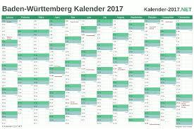 Ferienkalender 2018 Bw Kalender 2017 Baden Württemberg