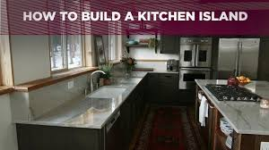 island for the kitchen how to build a kitchen island video diy