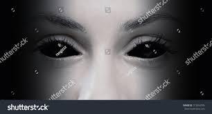 halloween concept close evil female eyes stock photo 313054376