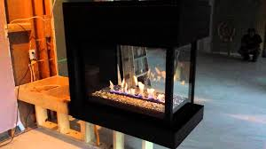ideas u0026 tips 3 sided montigo fireplace in black