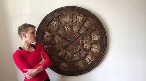 Wooden Wall Clock Unique Oversized Designer Wooden Wall Clock Youtube