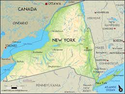 Usa Map New York City by Geographical Map Of New York And New York Geographical Maps