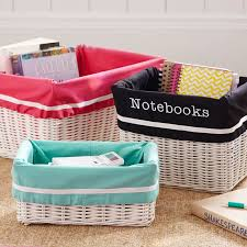 Pottery Barn Baskets With Liners Hideaway Basket Liner Pbteen