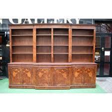 Break Front Bookcase Regency Style Breakfront Bookcase