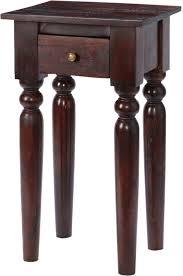 dark wood side table maharani dark wood telephone table side tables