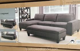 Sectional Sofa With Storage Chaise Sofa With Storage Ottoman Costco Weekender