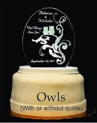 owl cake toppers owls light up wedding cake topper wedding collectibles
