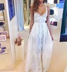 long lace slip dress white black sd439 on luulla