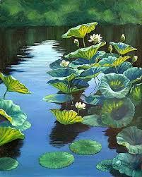 Lotus Flower In Muddy Water - paintings of lotus flowers white lotus flowers and leaves on a