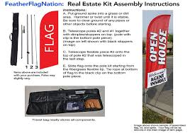 How Tall Is A Flag Pole Amazon Com 6 5ft Real Estate Open House Feather Banner Flag