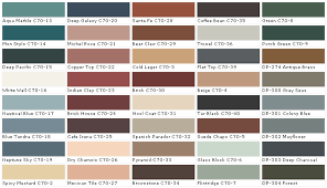 pittsburgh paints house paint color chart chip swatch and