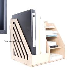 Desk Folder Organizer Desk File Holder Office Wood Desk Organizer File Holder Rack