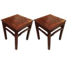 Wood Block Side Table Unusual Wood Block Side Table Signed