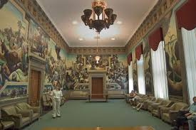 thomas hart benton murals the house lounge state capitol