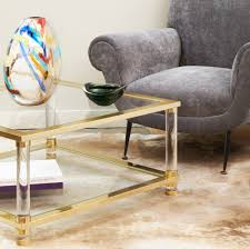 coffee table coffee table square brass glass 494977 1 1400 brass
