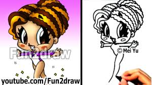 fun2draw thanksgiving how to draw cartoon people gymnast drawing pinterest