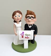 up cake topper wedding cake topper based on the up personalised wedding