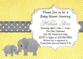 yellow and gray baby shower yellow elephant baby shower invitation yellow and gray