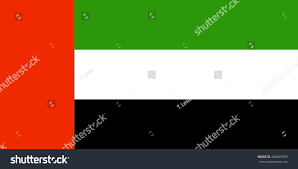 Colors Of Uae Flag United Arab Emirates Flag Official Colors Stock Vector 408625969